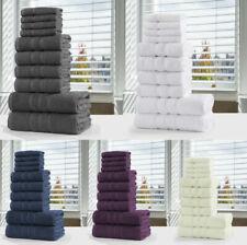 LUXURY TOWEL BALE SET 100% EGYPTIAN COTTON SOFT FACE HAND BATH BATHROOM TOWELS