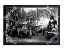 Historic Knutson & Nelson - Grotto, Washington Logging Mack Trucks Postcard