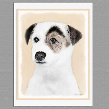 6 Parson Jack Russell Terrier Smooth Coat Dog Blank Art Note Greeting Cards