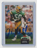 1992 PACKERS Johnny Holland signed card AUTO Topps #50 Autographed Green Bay