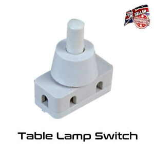 Table Lamp Switch 1 Amp White SPST Micro Push Switch On Off *Uk Supplier*