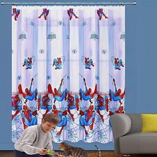GARDINE VORHANG SPIDERMAN KINDERZIMMER L=208cm x B=185cm MARVEL SPIDER-MAN TOP.