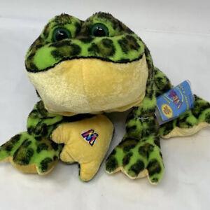Ganz Webkinz Bullfrog Plush Green Spotted Frog Sealed Code Stuffed Animal HM114