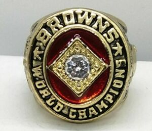 1964 JIM BROWN COMMEMORATIVE CHAMPIONSHIP RING BROWNS SIZE 11