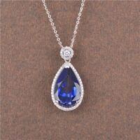 14KT White Gold 1.85Ct Natural Blue Tanzanite EGL Certified Diamond Pendant