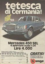 X9252 Mercedes 450 SEL BBURAGO - Pubblicità 1977 - Advertising