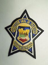 Vintage Direccion Gral de Transito Edobaja California Embroidered Iron On Patch