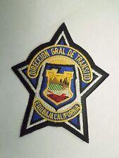 Vintage Direccion Gral de Transito Edobaja California Embroidered Iron On Patch