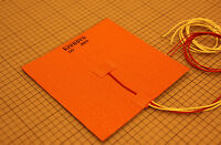 200x200mm 200W 24V Silicone Heater Pad 3D Printer HeatBed+3M PSA+NTC Sensor