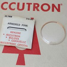 Bulova Accutron ARMORED PINK CRYSTAL  316 3AP - 33.7 mm - Brand New NOS
