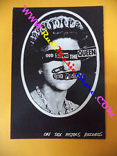 CARTOLINA PROMOZIONALE POSTCARD SEX PISTOLS God save 10x15 cm no*cd dvd lp mc