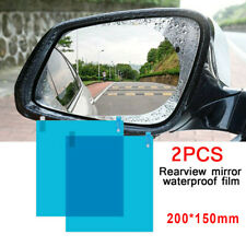 Car Rearview Mirror Film Rainproof Anti Fog Rain Shield Protector Sticker 1 Pair
