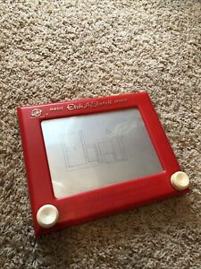 Vintage original Magic Etch-A-Sketch Model 505 Ohio Art from the 1960's D3 Red