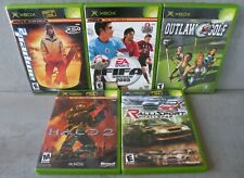 5 Xbox Video Games - Amped 2, Fifa Soccer 2005, Halo 2, Ralli Sport, Outlaw Golf