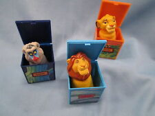 Lot 3 Burger King Lion King Finger Puppet box 1995 Rafiki Mufasa Simba