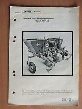 Ersatzteilliste Cramer Triplex Bauart 03 ab 1976 Kartoffellegeautomat
