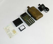 HP-67 Scientific Calculator Case AC Charger Guide Charging HP67 NEW BATTERY! 45