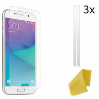 3 X Clear Plastic Screen Guard LCD Protector For Samsung Galaxy S6
