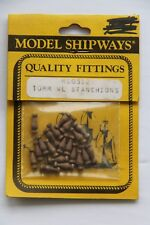 Model Shipways Fittings MS0352 Stanchions 10mm 20 Count Wooden NEW Old Stock