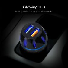 Dual USB QC3.0/3.1A LED Fast Car Charger Quick Charging for iPhone Samsung GPS