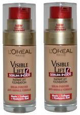 2 X L'Oréal Visible Lift Serum Inside Foundation 30ml- 120 Rosy Porcelain