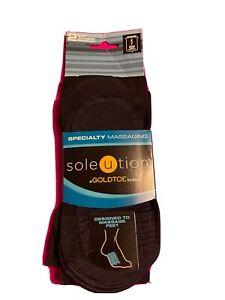 Gold Toe  Soleution 2 pairs  Specialty Massage Trouser Size M Black  Unisex