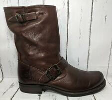 FRYE Veronica Short Biker Brown Leather Boots 76509 Women US 8.5 Well Maintained