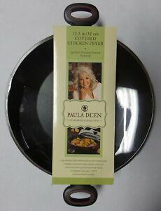 Paula Deen 16992 12.5 In. Aluminum Nonstick Covered Chicken Fryer With Handles