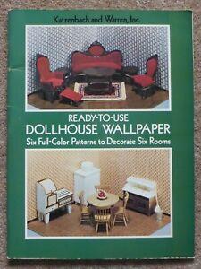 Original 1970's Dolls House Wallpaper book Katzenbach & Warren Dover