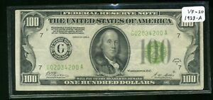 Series of 1928 A $100 Federal Reserve Note / Currency - Chicago/ Illinois CP735