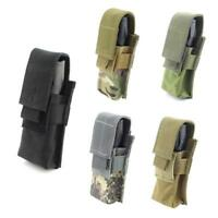 CQC Molle Tactical Flashlight Pouch Single Pistol Magazine Pouch Torch Holder