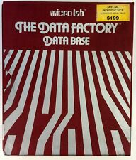 Microlab The Data Factory Database Home Filer Complete in Sleeve Contents New