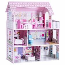 Casa delle Bambole in Legno per Bambina Giocattolo dei Bambini 3 Piani con Mobil