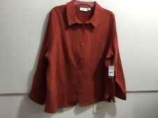 Studio Works women's plus size 2X button front soft suede like look button front