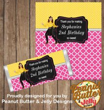 Personalised Emma Wiggle Chocolate Bar Wrapper (only) x10 wraps ($1 ea)