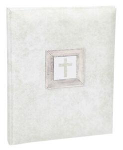 Konfirmation Kommunion Fotoalbum in Beige 22x27 cm 40 weiße Seiten Foto Album