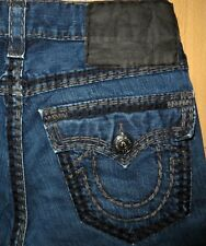 ORIGINAL TRUE RELIGION JEANS RICKY SUPER QT STRAIGHT-CUT BLUE W 31/30 BOBBY GENO