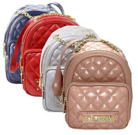 Zaino backpack Love Moschino Ecopelle trapuntata faux leather Splallacci regolab