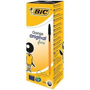 2 Boite x Bic Stylo bille Orange - Noir - Boite de 20