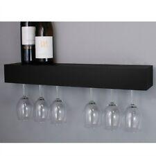 Wine Glass Rack Holder Wall Mount Wood Hanging Storage Hanger Bar Cabinet Shelf