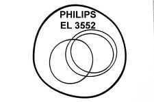 SET CINGHIE PHILIPS EL3552 REGISTRATORE A BOBINE BOBINA NUOVE FRESCHE EL 3552