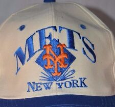 New York Mets NY Logo Hat Cap Eds West Snapback White Adjustable