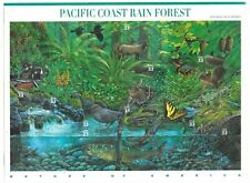 2000 M/SA Sc# 3378 33-cent Sheet of10 WRINKLED ON BACK Pacific Coast Rain Forest