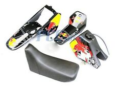 Yamaha PW80 PW COYOTE 80 TANK SEAT PLASTIC + DECALS GRAPHIC KIT BLACK M DE52+