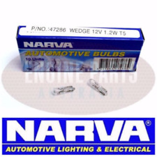 Narva 12V 1.2W Wedge Globes Type W2 x 4.6D T-5mm Dashboard Globe x10 Clear