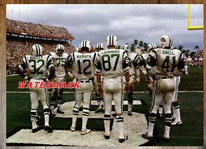 NFL QB Joe Namath New York Jets  Color 8 X 10 Photo Picture