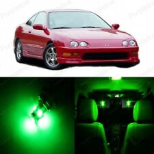 9 x Green LED Interior Lights Package For 1994 - 2001 Acura Integra + PRY TOOL