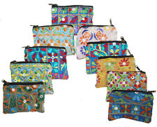 Indian Vintage Embroidered Hand Bag Beautiful Women Clutch Pouch Purse 10 Pc Lot