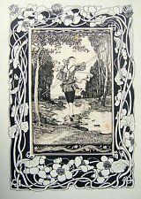 Las ilustraciones Art Deco el pastor Walter Crane RWS (atribuido) Tinta C1900