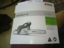 Stihl MS 271 291 Chain Saw Owners Instruction Manual